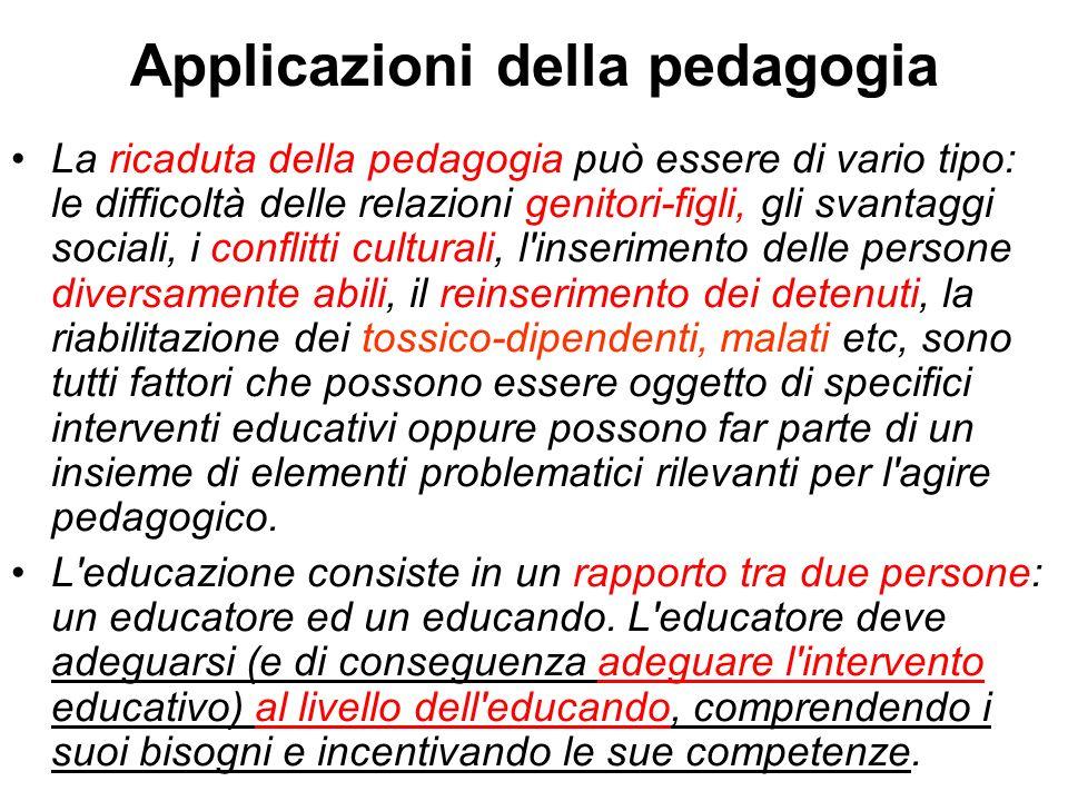 Applicazioni della pedagogia