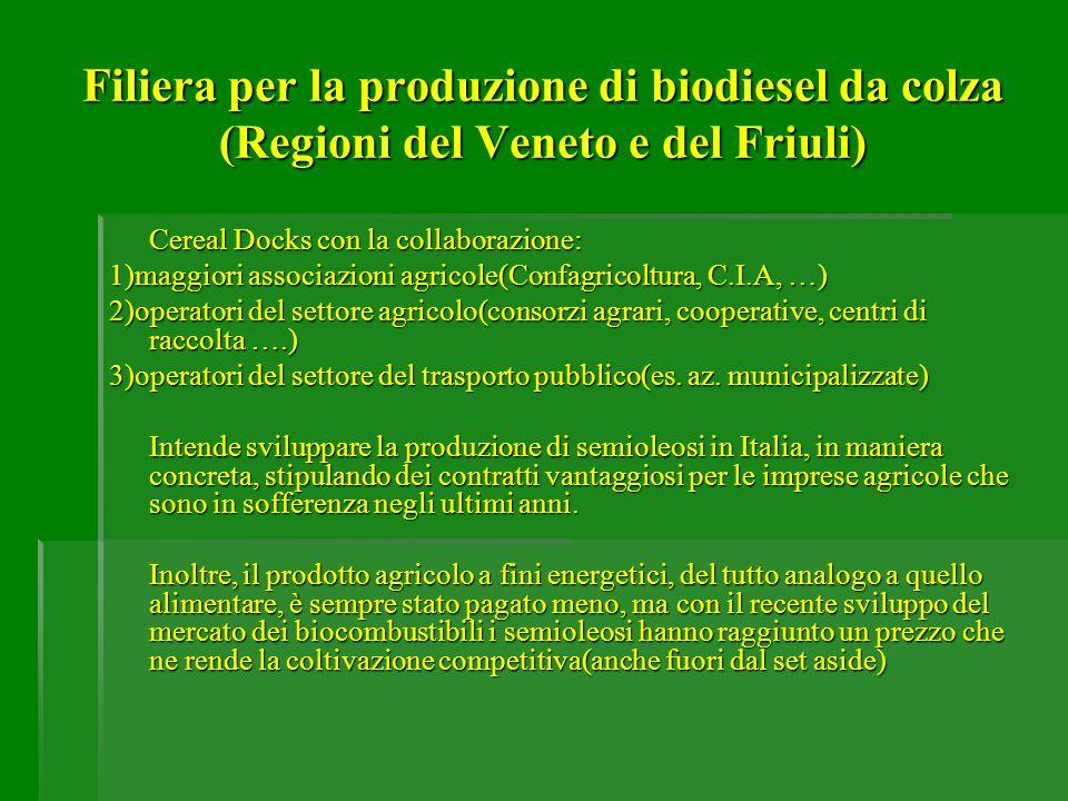 Filiera per la produzione di biodiesel da colza (Regioni del Veneto e del Friuli)