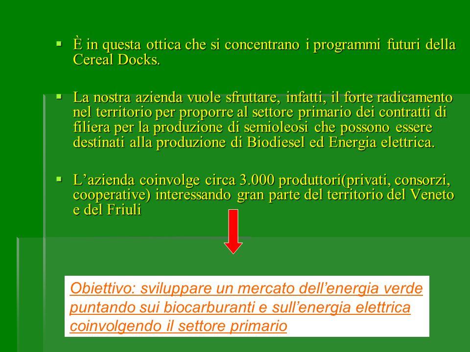 È in questa ottica che si concentrano i programmi futuri della Cereal Docks.