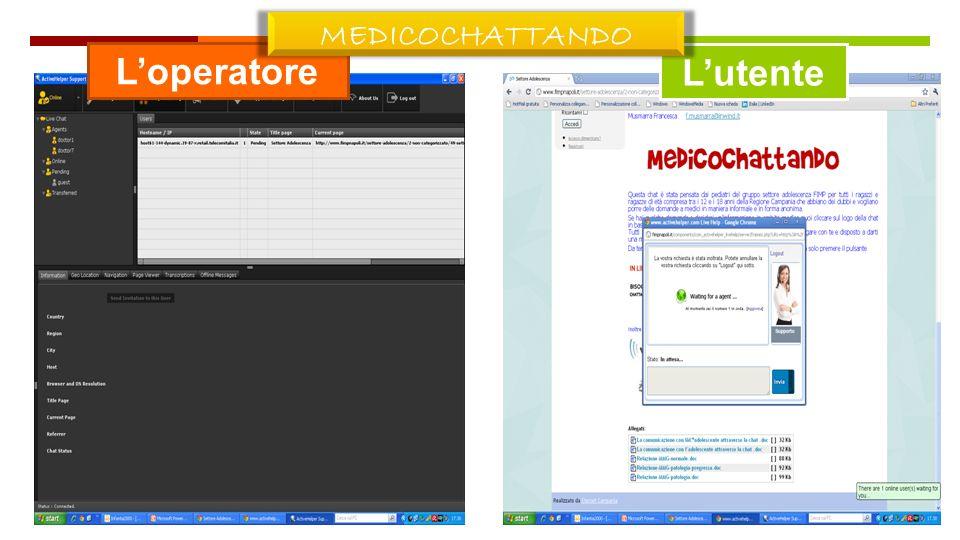 MEDICOCHATTANDO 09/05/13 L'operatore L'utente