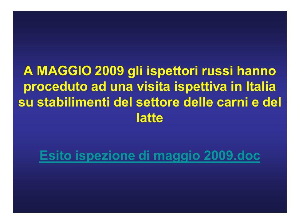 Esito ispezione di maggio 2009.doc