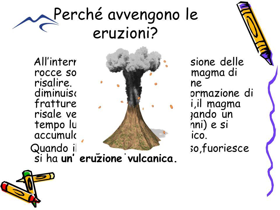 Perché avvengono le eruzioni