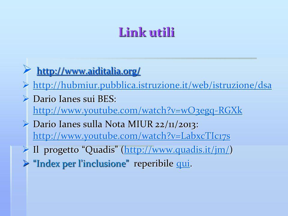 Link utili http://www.aiditalia.org/