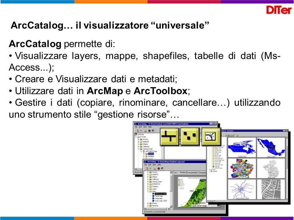 ArcCatalog… il visualizzatore universale