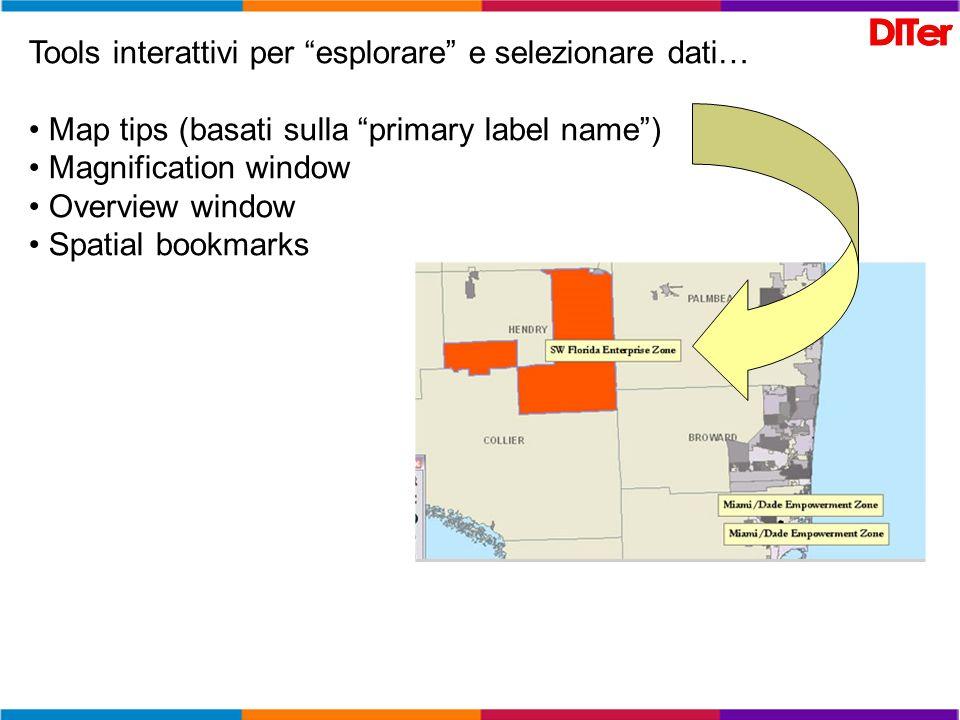 Tools interattivi per esplorare e selezionare dati…