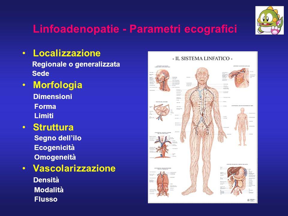 Linfoadenopatie - Parametri ecografici