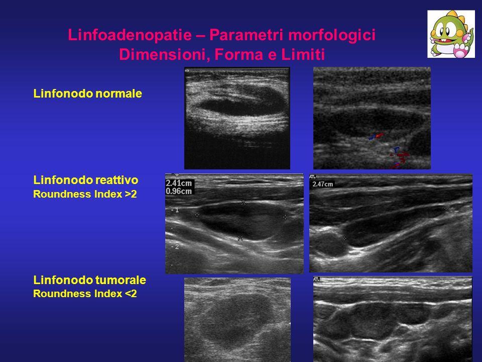 Linfoadenopatie – Parametri morfologici Dimensioni, Forma e Limiti
