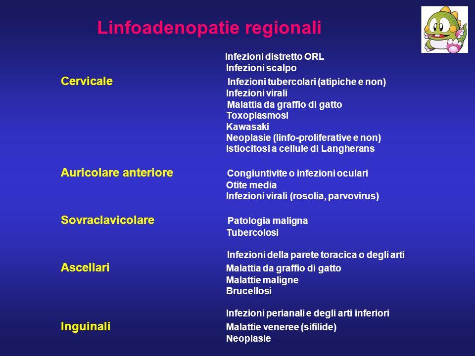 Linfoadenopatie regionali