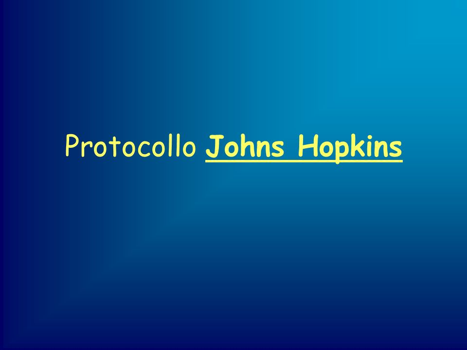 Protocollo Johns Hopkins