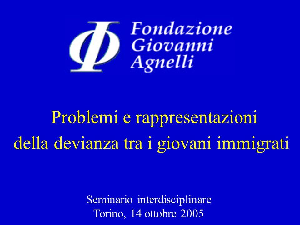 Problemi e rappresentazioni della devianza tra i giovani immigrati