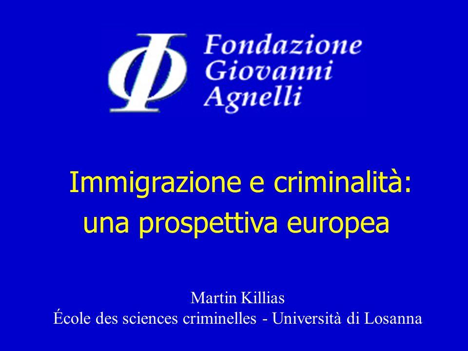 Immigrazione e criminalità: una prospettiva europea