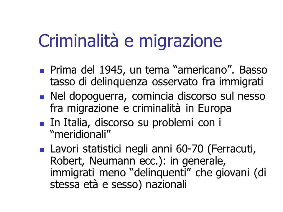 Criminalità e migrazione