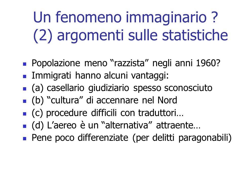 Un fenomeno immaginario (2) argomenti sulle statistiche
