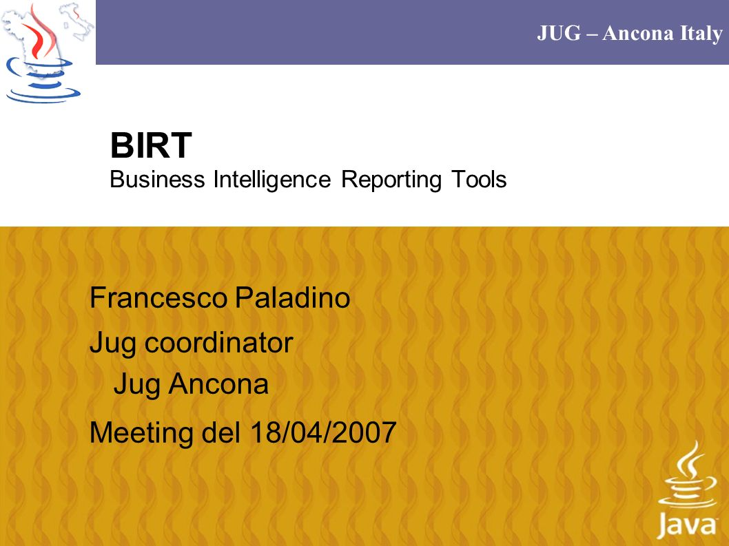 BIRT Business Intelligence Reporting Tools