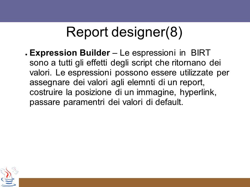 Report designer(8)