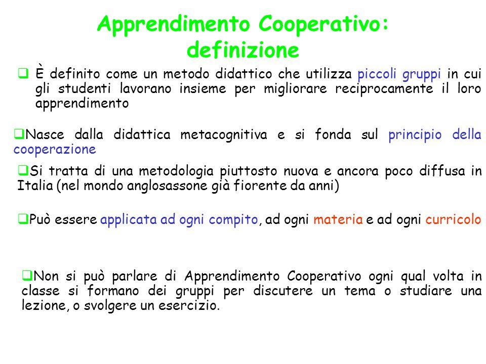 Apprendimento Cooperativo: definizione