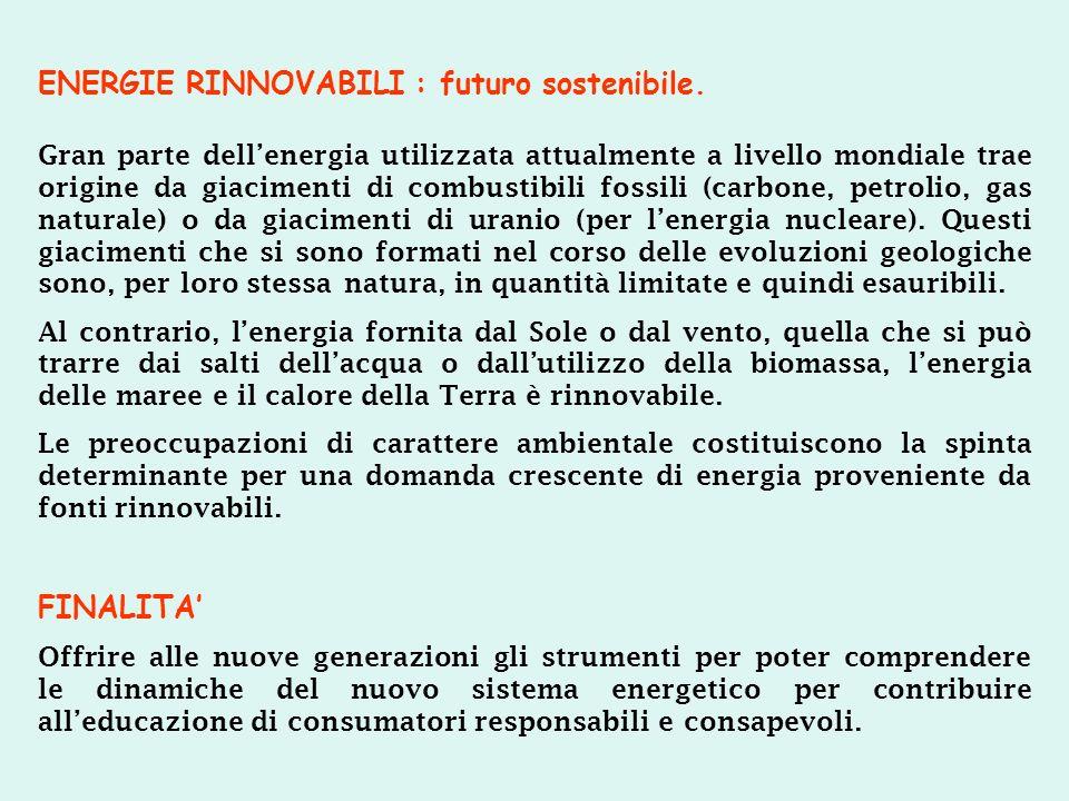 ENERGIE RINNOVABILI : futuro sostenibile.