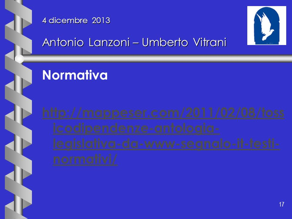 4 dicembre 2013 Antonio Lanzoni – Umberto Vitrani