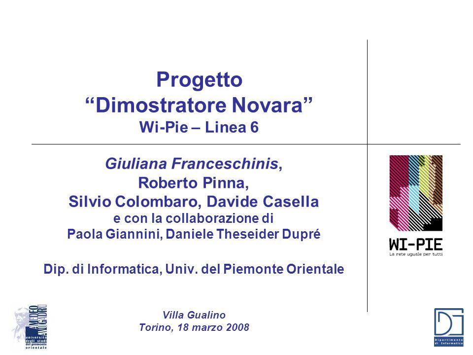 Progetto Dimostratore Novara Wi-Pie – Linea 6