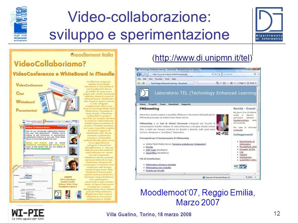Video-collaborazione: sviluppo e sperimentazione