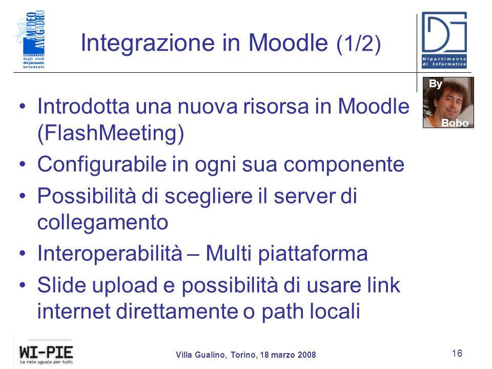 Integrazione in Moodle (1/2)