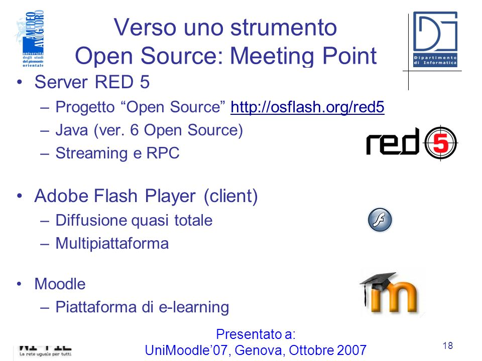 Verso uno strumento Open Source: Meeting Point