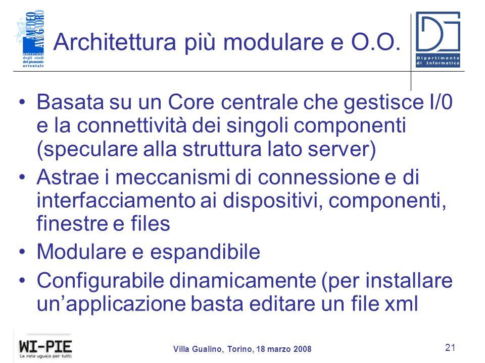 Architettura più modulare e O.O.