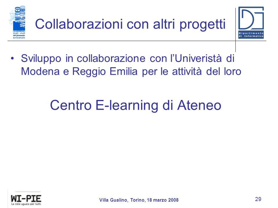Collaborazioni con altri progetti