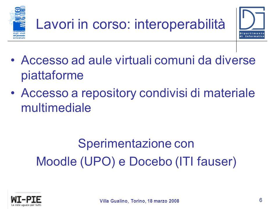 Lavori in corso: interoperabilità