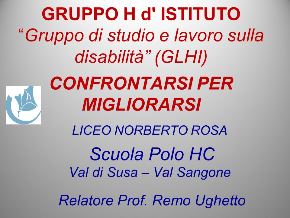 Relatore Prof. Remo Ughetto