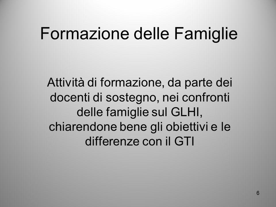 Formazione delle Famiglie