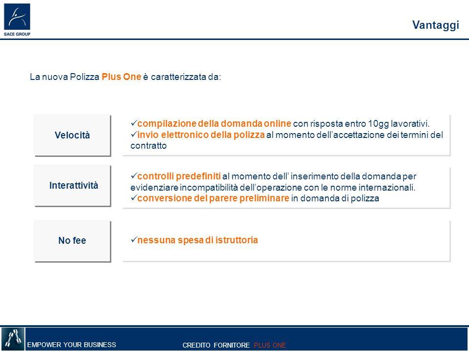 La nuova Polizza Plus One è caratterizzata da: