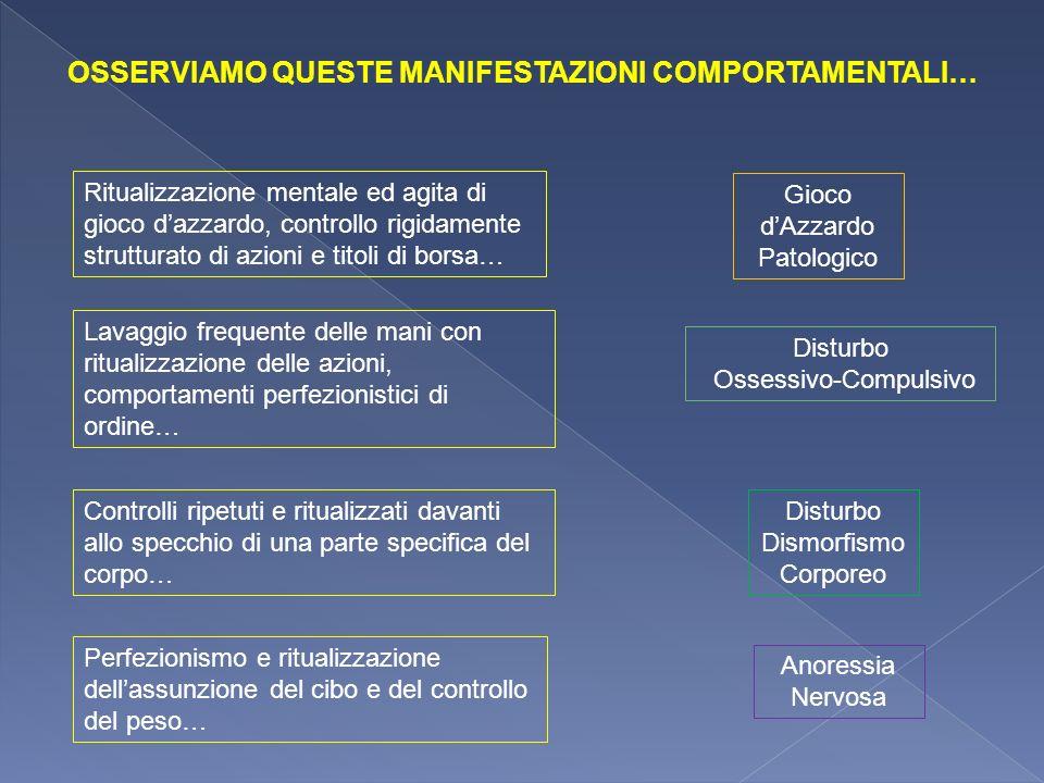 OSSERVIAMO QUESTE MANIFESTAZIONI COMPORTAMENTALI…