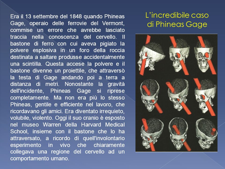 L'incredibile caso di Phineas Gage