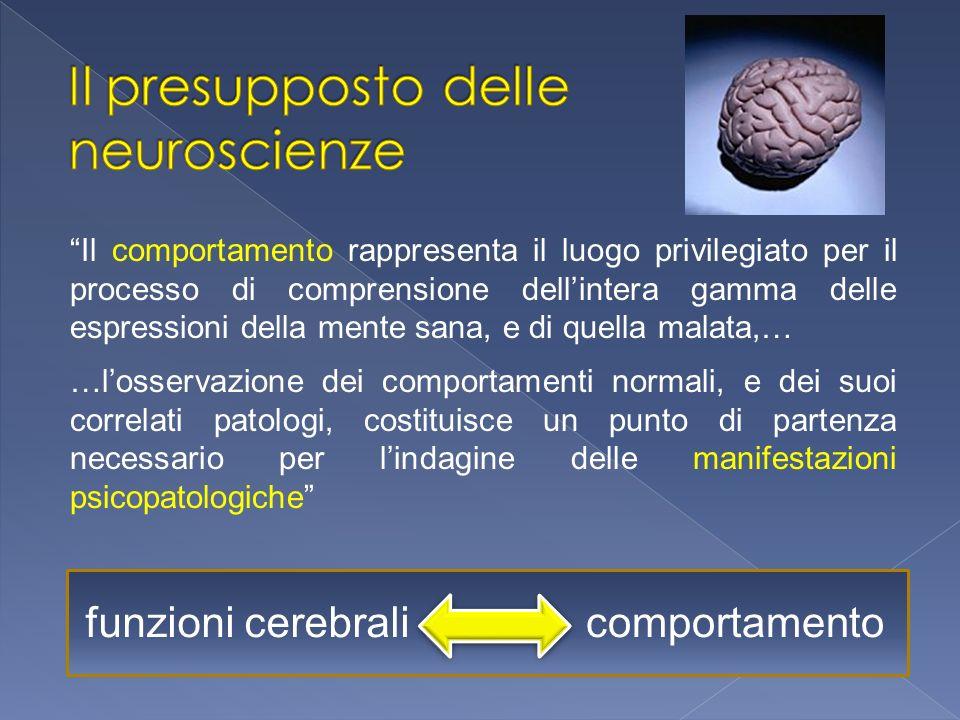 Il presupposto delle neuroscienze