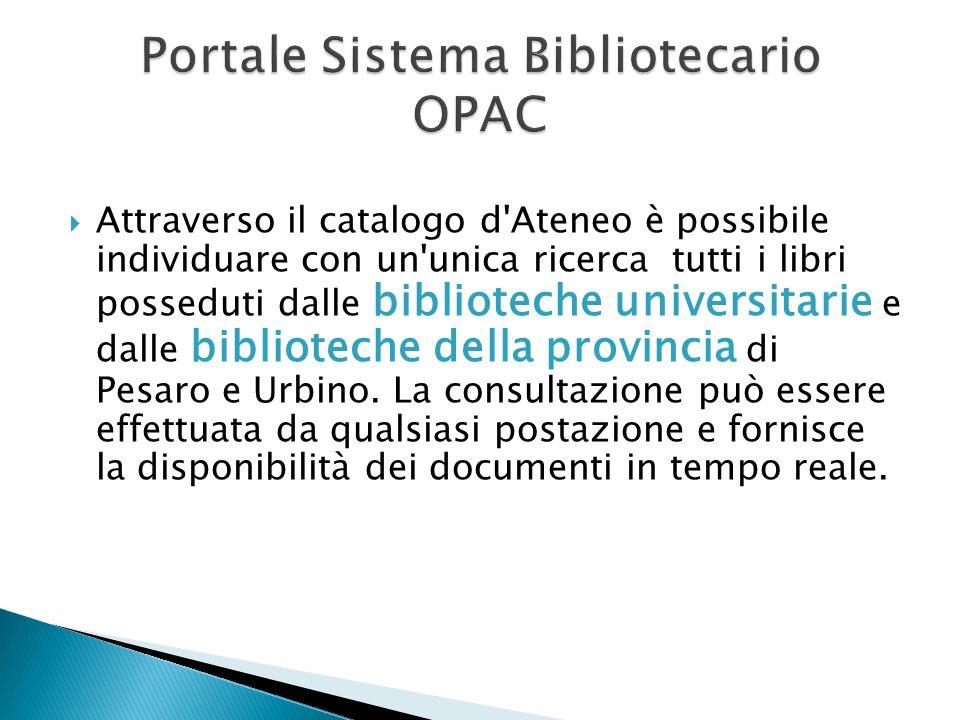 Portale Sistema Bibliotecario OPAC
