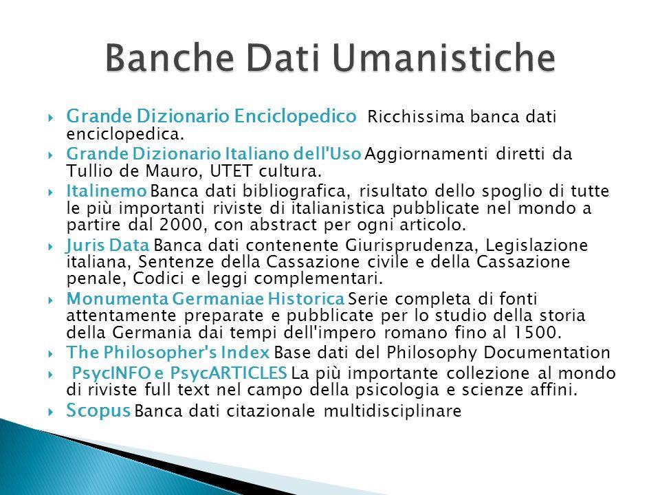 Banche Dati Umanistiche