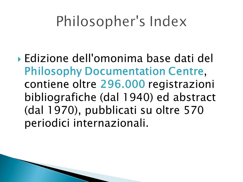 Philosopher s Index