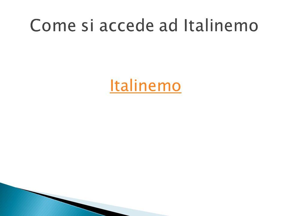 Come si accede ad Italinemo