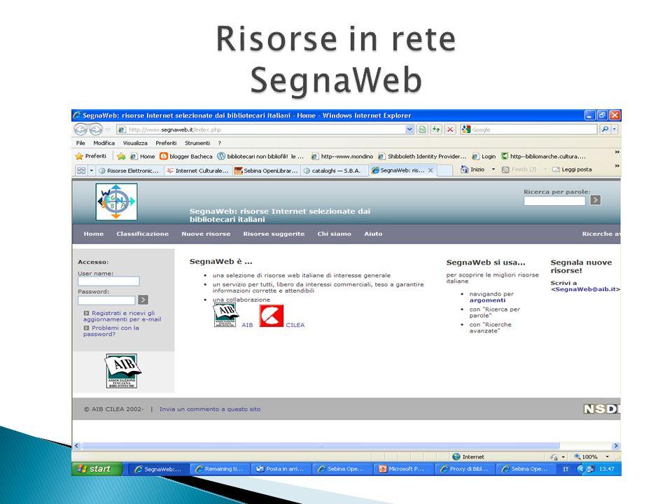 Risorse in rete SegnaWeb