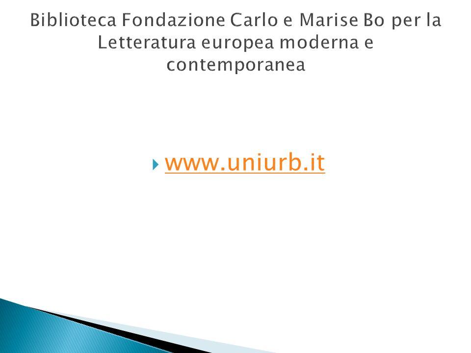 Biblioteca Fondazione Carlo e Marise Bo per la Letteratura europea moderna e contemporanea