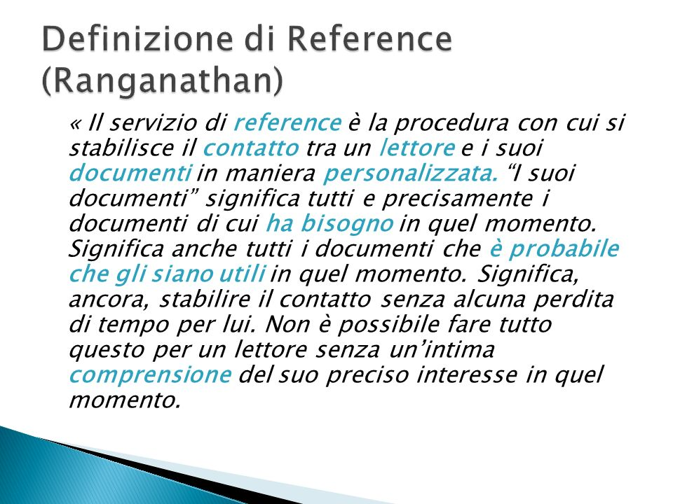 Definizione di Reference (Ranganathan)