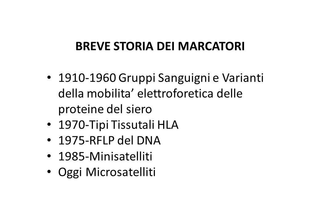 BREVE STORIA DEI MARCATORI