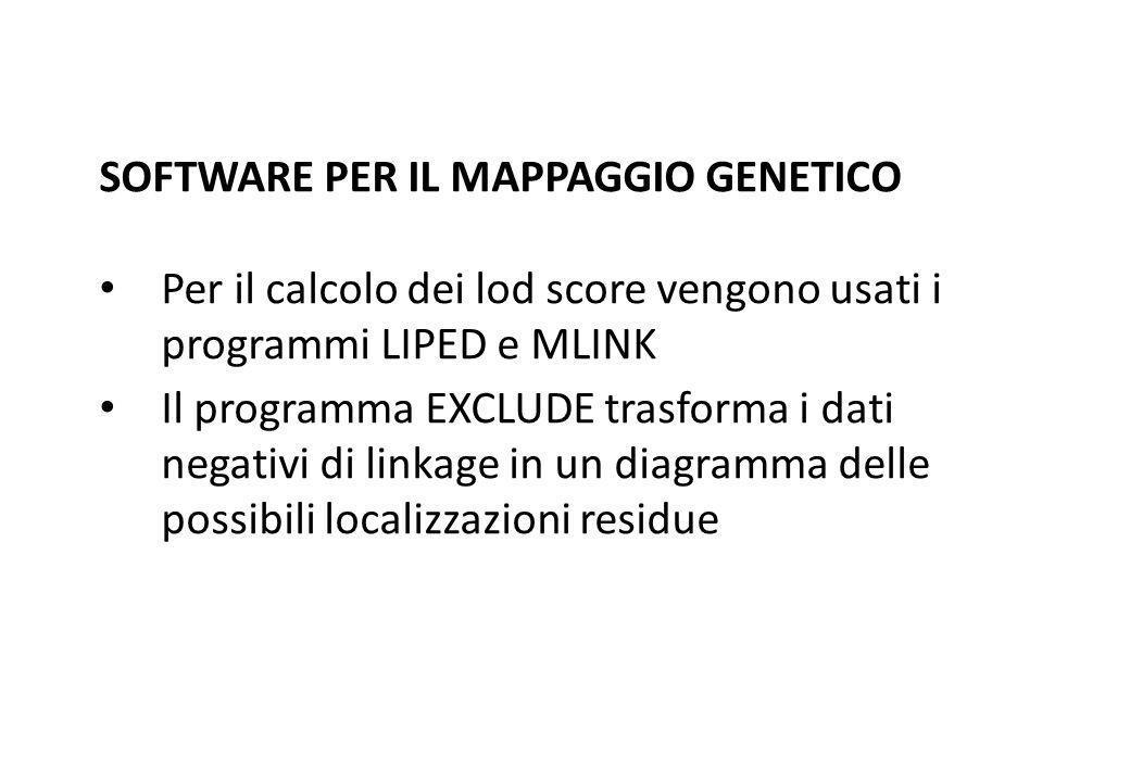 SOFTWARE PER IL MAPPAGGIO GENETICO