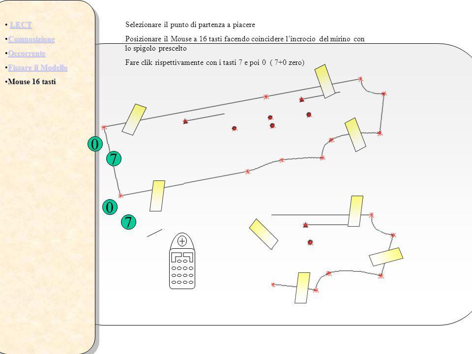 7 7 LECT Composizione Occorrente Fissare il Modello Mouse 16 tasti