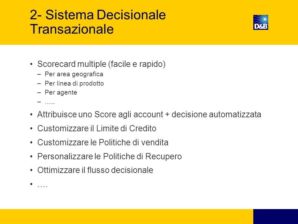 2- Sistema Decisionale Transazionale