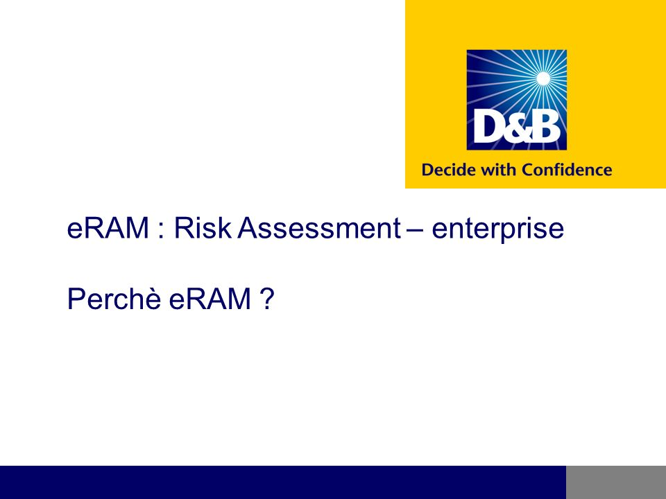 eRAM : Risk Assessment – enterprise