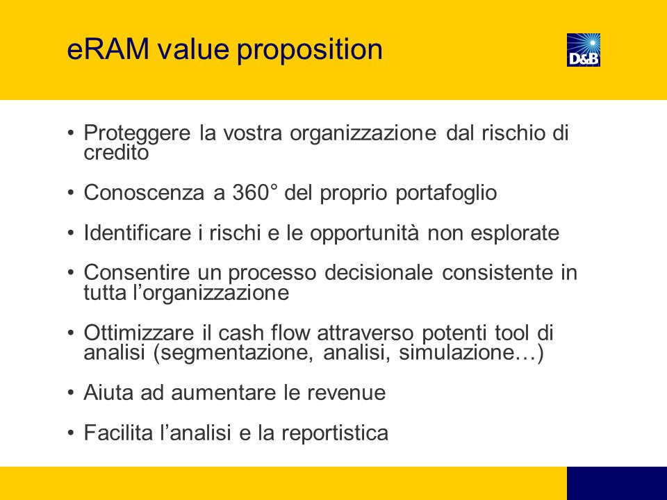 eRAM value proposition