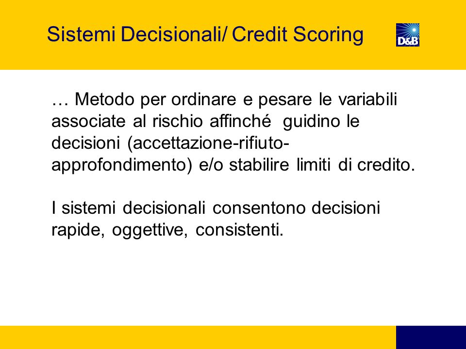 Sistemi Decisionali/ Credit Scoring