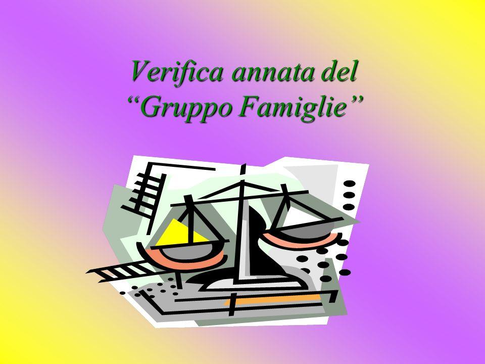 Verifica annata del Gruppo Famiglie